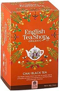 DEU English Tea Shop Bio-Schwarztee-Chai mit Gewürzen aus Sri Lanka - 1 x 20 Teebeutel 40 Gramm