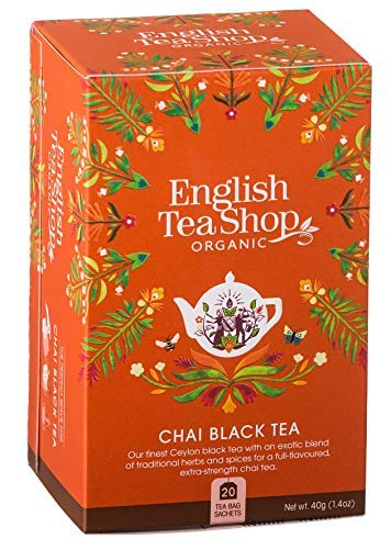 English Tea Shop Tè Nero Biologico Chai alle Spezie Made in Sri Lanka - 1 x 20 Bustine di Tè (40 Grammi)