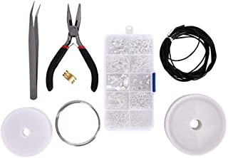 limmyun Jewelry Making Supplies Jewelry Making Kit Includes Plier and Tweezers Kit for Making Friendship Bracelets, Earrings,DIY Handmade