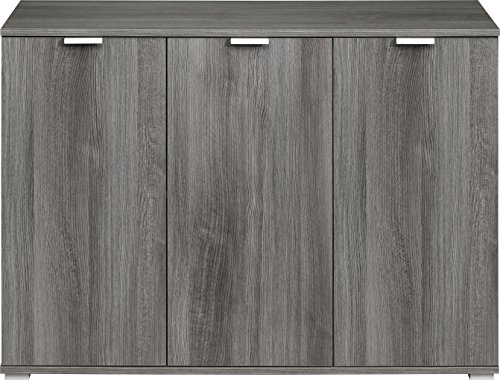 CS Schmalmöbel Kommode Holz silbereiche 107 x 76 x 35 cm