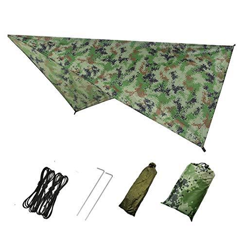 Tienda de Hamaca de Mosquitos de Mosquitos Abiertos rápida al Aire Libre con toldos a Prueba de Agua Set Hamkock Portable Pop-Up (Color : Camouflage Canopy on)