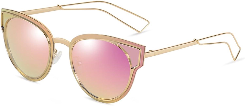 HONGYANDAI Sunglasses Women's Metal Frame Driving Polarized Glasses 100% Uv Predection Goggles