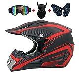YXST Casco Moto,Casco De Esquí Certificado CE con Gafas/Guantes Forro Desmontable Especializado Resistente, Transpirable para Esquí, Patineta, Protector 52-59cm,3,S