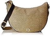 Borbonese Luna Bag Middle, Borsa a Tracolla Donna, Marrone (Safari), 30x32x12 cm (W x H x L)
