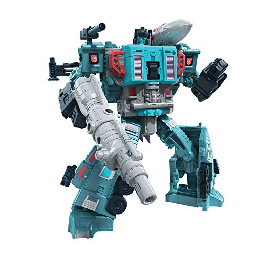 Transformers Generations War for Cybertron: Earthrise Leader WFC-E23 Doubledealer Triple Changer Action-Figur – Kinder ab 8 Jahren, 17,5 cm