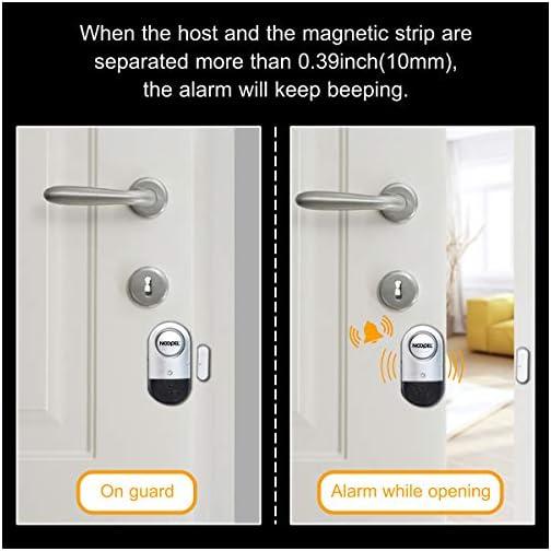 Door Window Alarm 2 Pack Noopel Home Security Wireless Magnetic Sensor Burglar Anti-theft 120DB Alarm with Batteries… 4