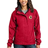 Cherrybrook Dog Breed Embroidered Ladies Rain Jackets - X-Large - Radish and Steel Gray - Chow Chow