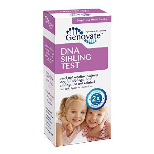 Genovate DNA Sibling Test - All Lab Fees & Shipping Included - Results in 2 Business Days