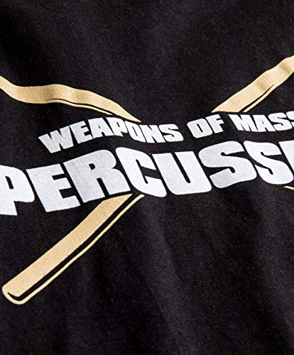 Product Image 6: Weapons of Mass Percussion | Funny Drum Drummer Music Band Men Women T-Shirt-(Adult,L) Black