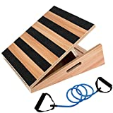 StrongTek Professional Wooden Slant Board, Adjustable Incline Board and Calf Stretcher, Stretch Board, Extra Side Handle Design for Portability 16 X 18 Inches, 5 Positions (500 LB Capacity)