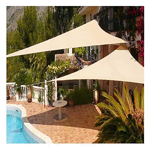 2X3m Tartas de sombra para al aire libre Neto triangular de sombra, bloques de sombra El 95% de los rayos ultravioleta, red protectora de aislamiento térmico para jardín y balcón, corrosión de ventila