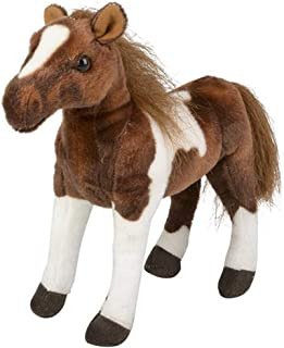 Rhode Island Novelty Plush Horse Stuffed Animal Brown Standing Horse Toy - 12 Inches
