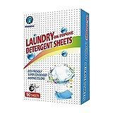 Lamptti Hojas de detergente de lavandería Nano-concentradas de 90 Piezas, Hojas de detergente portátiles, descontaminación Profunda, ecológico, fácil disolución de Hojas de detergente de lavandería