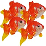 Jet Creations Inflatable 20 inch Long Pack of 4 Gold Fish,Party Supplies Party Favors,partygifts an-GOLD4, Multi
