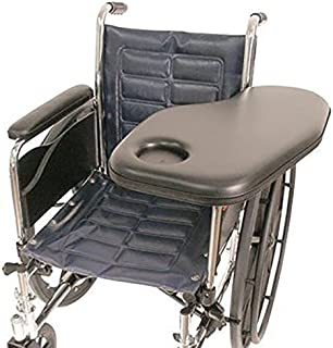 Therafin Flip-Away Padded Standard Half Tray with Molded Cup Holder, Left, Wheelchair Tray