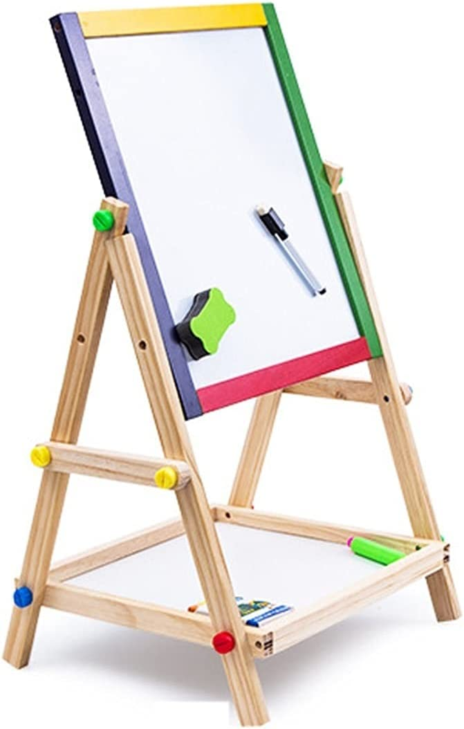 LICHUAN Solid Wood Kids Board NEW before selling ☆ Drawing Easel Ranking TOP20 Double-Sided