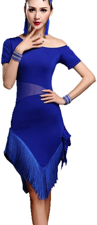 Latin Dance Skirt Tassel Suit Practice Service Latin Dress Tango Dress Cha Cha Dress