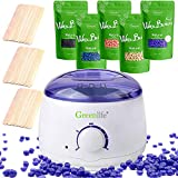 GreenLife® Hair Removal Wax Warmer Kit with 5 Flavors Hard Wax Beans