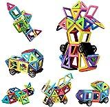 Innoo Tech Magnetische Bausteine, 76tlg Mini Inspirierende Bauklötze, Magnetbausteine Konstruktion Blöcke, Magnetspielzeug Lernspielzeug, Tolles Geschenk für Kinder ab 3 Jahr (Medium)