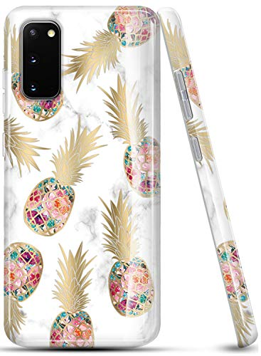 LUOLNH Galaxy S20 Case,Samsung Galaxy S20 Case for Girl Women,Shockproof Flexible Soft Silicone Rubber TPU Bumper Cover Skin Case for Samsung Galaxy S20 -Golden Pineapple