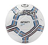 Uhlsport Infinity Team Balones de Fútbol, Blanco / Azul Marino / Rojo (Fluo), 5