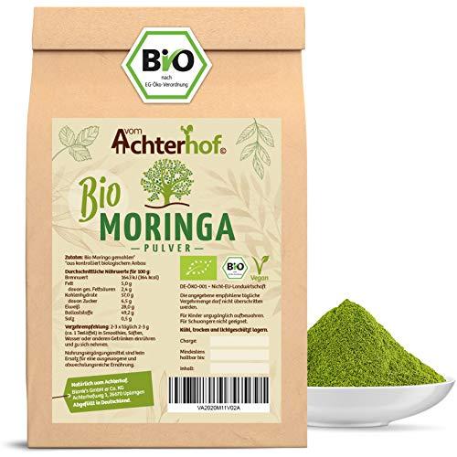 Moringa Pulver BIO (500g) 100% echtes MoringaOleifera Blattpulver aus kontrolliert biologischen Anbau