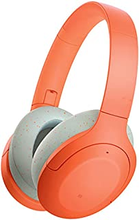 Wireless Headphones Wireless Bluetooth headset, headmounted noise canceling headset, foldable, 35hour battery life, suitable for various connections such as ps4black headset (Color : Orange)