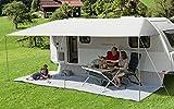 Berger Sonnenvordach Vario grau Sonnenschutz für Caravan und Wohnwagen in verschiedenen Größen (600 x 240 cm)
