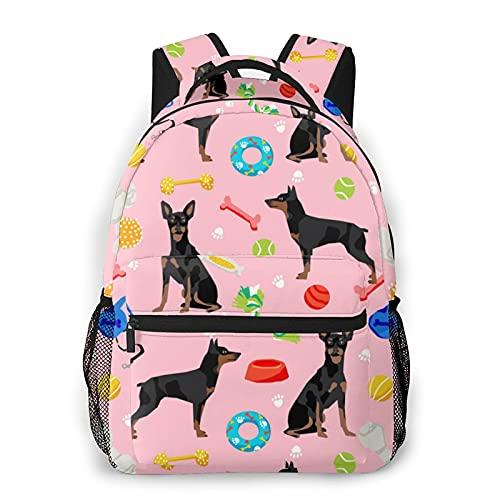 Mochila de viaje unisex para perros y juguetes, color rosa