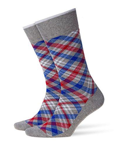 BURLINGTON Herren Socken Cadogan - 83% Baumwolle , 1 Paar, Grau (Melange Grey 3967), Größe: 40-46