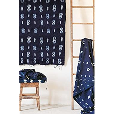 Indigo Tie Dye Tapestry Wall Hanging Mudcloth Sofa Throw,44in x59in