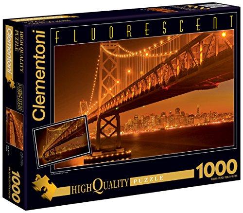 Clementoni 39175.2 - Puzzle Fluorescent 1000 teilig San Francisco