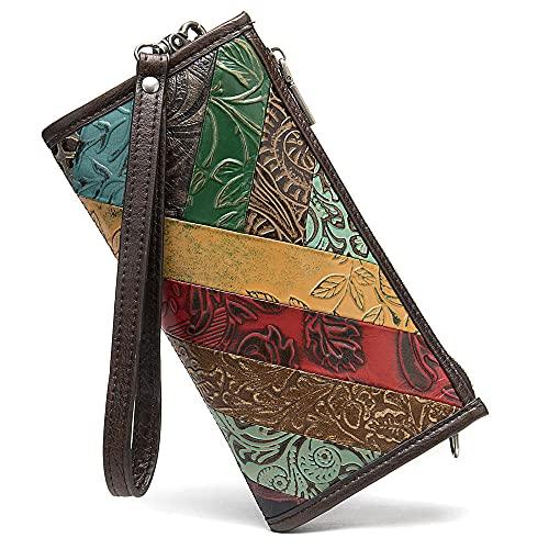 vulture Bolso de mano de cuero para mujer, bolso para teléfono móvil, bandolera de piel de vacuno de capa superior, bolso de mano, bolso de mensajero-color