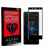 YISPIRIN [2 Piezas] Cristal Templado para Sony Xperia XZ2 Compact, [Dureza 9H, Anti-Rasguño, 3D Cobertura Completa] Fácil de instalar, Protector de Pantalla para Sony Xperia XZ2 Compact