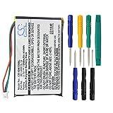 1250mAh Battery for Garmin Nuvi 1300, Nuvi 1340T Pro, Nuvi 1350, Nuvi 1350T, Nuvi 1370, Nuvi 1370T, Nuvi 1375T, Nuvi 1390, Nuvi 1390T, Nuvi 1490 with 7/pcs Toolskits