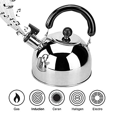 Stove Top Whistling Tea Kettle 4L Classic Teapot Appearance Culinary Grade Stainless Steel Teapot Composite Process Bottom