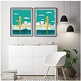 RuiChuangKeJi Kunstwerk Malerei 2x50x75cm ohne Rahmen