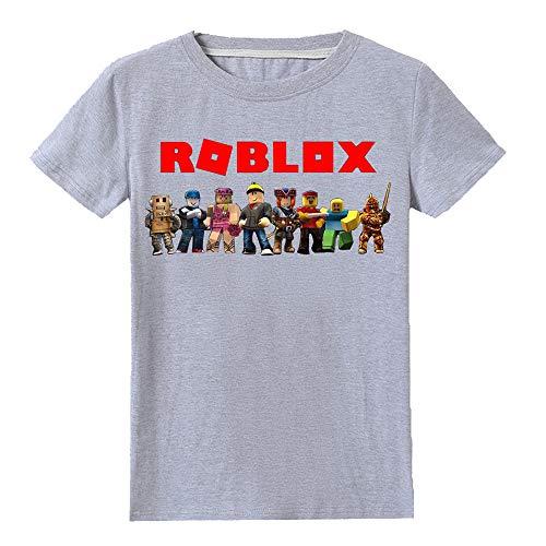 Roblox Camiseta Personalidad Impreso Blusas Popular Cuello Redondo Camiseta Clásica Acogedora Manga Corta niños y niñas