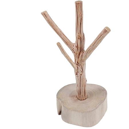 Support Collier Bague Bracelet Boucle dOreille Stand D/écoratif Navaris Arbre Pr/ésentoir /à Bijoux Porte-Bijou Design en Bambou /Ø 17 x 31 cm