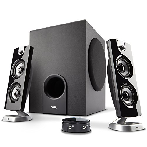 Cyber Acoustics CA-3602FFP 2.1 Speaker Sound System with...