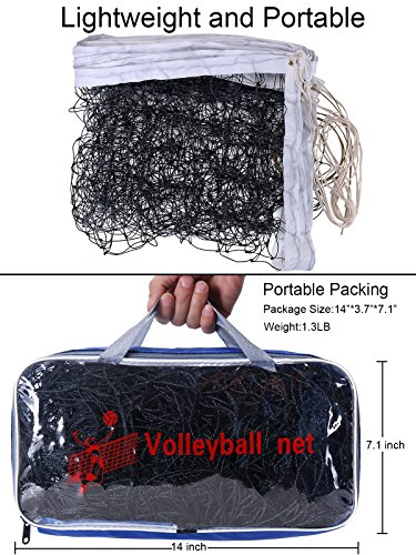 YLOVAN Volleyball Net for Pool Beach Park Backyard Outdoor or Indoor Sports Portable Volleyball Replacement Net(32 FT x 3 FT) Poles Not Included