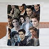 Fyess Edward Cullen Blanket Robert Pattinson Collage Blanket Home Decor Throw Blanket Gift for Twilight/Children/Adults 50in×40in