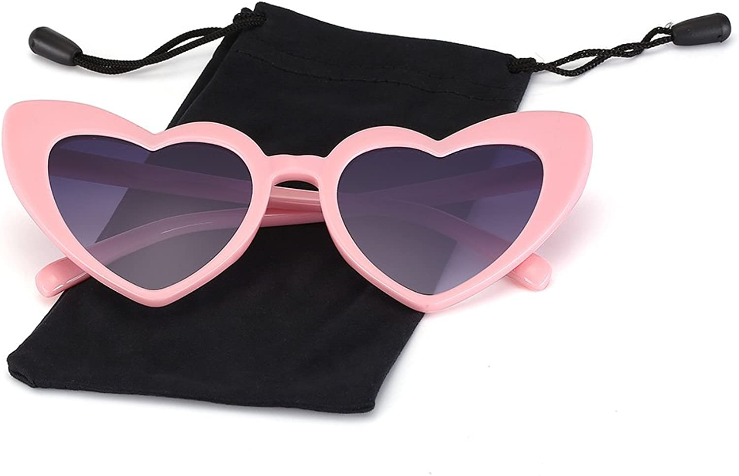 Heart Shaped Sunglasses for Women Clout Goggle Style Sun Glasses by LOOKEYE