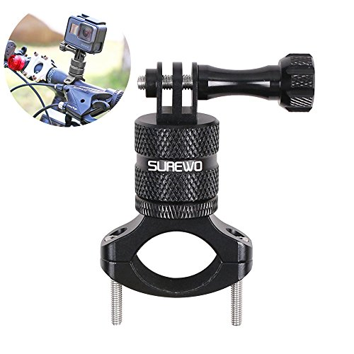 SUREWO Bike Mount for GoPro Hero 9/8/7/6/5 Black,GoPro Max,Camera Aluminum Bicycle Motorcycle Handlebar Mount Compatible with DJI Osmo Action,Xiaomi YI,Crosstour,Insta360 ONE R and Most Action Cameras