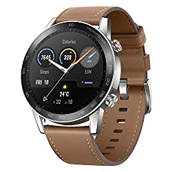 HONOR Magic Watch 2 (46mm, Flax Brown) 14-Days Battery, SpO2, BT Calling & Music Playback, AMOLED Touch Screen, Personalized Watch Faces, 15 Workout Modes, Sleep & HR Monitor, Smart Assistant,Huawei,Minos-B19V