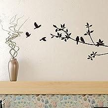 Vogels Op Boomtakken Vinyl Muurstickers Zwarte Vogel Sticker Muurschildering Art Decal Kamer Home Decor Kamer Decoratie Be...