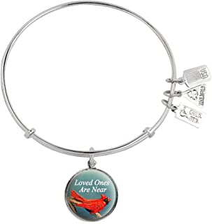 Wind and Fire Cardinal Loved Ones are Near Charm Bangle Bracelet WF750
