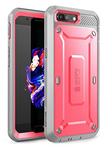 OnePlus 5 Case, SUPCASE Full-Body Rugged Holster Case with Built-in Screen Protector for OnePlus 5 (2017 Release), Unicorn Beetle PRO Series - Retail Package (Pink/Gray)