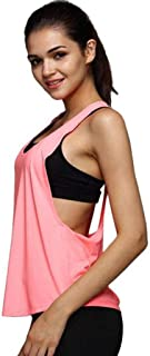 SHOBDW mujer, Camisetas sin Mangas Mujer,SHOBDW Playa De Verano Sexy Suelto Talla Grande Cuello Redondo Gimnasio Deporte Entrenamiento FíSico Entrenamiento Blusa para Correr para Mujer