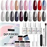 What You Get: 20 X Gorgeous colors nail dip powder (0.34 oz. each), 4 X Dip liquids essential set (with base coat/top coat/activator/brush saver. 0.34 oz. each), 5 X Additional professional dip manicure tool (with nail brush/cuticle pusher/nail file/...